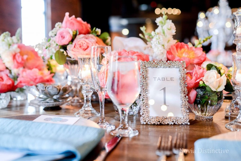 Gorgeous table setting at High Line Car House in Columbus, Ohio.  Planning by Emilie Duncan Event Planning. Flowers by Flowers on Orchard Lane.