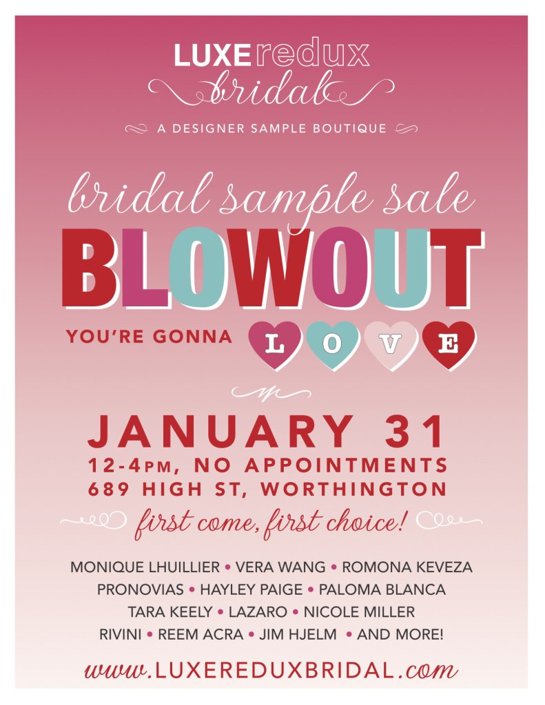 Luxe Redux Bridal Sample Sale